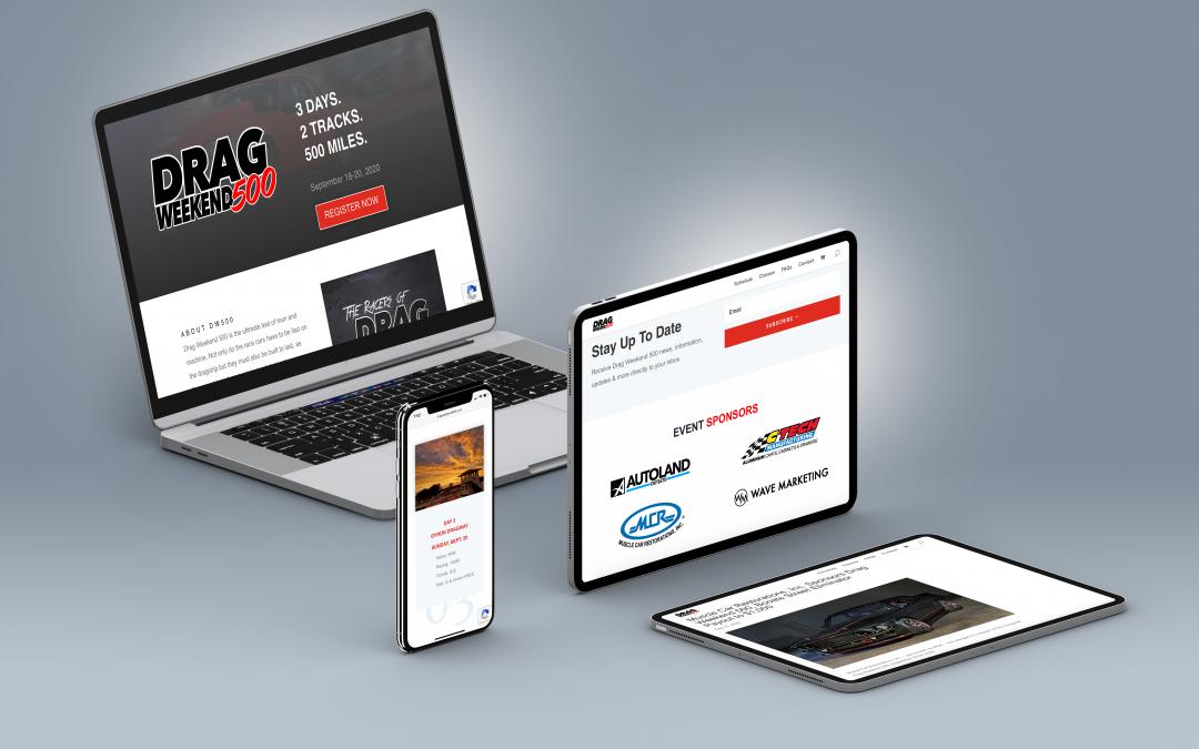 Wave Marketing Leads New Website Design for Drag Weekend 500